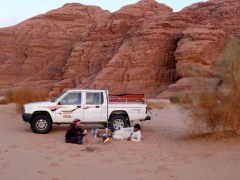 With bedouin Mahmoud in Wadi Rum (Jordan 2010)