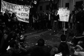Open air lecture with university students (Cosenza 2008)